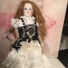 Antique Gaultier FG French Fashion Doll Swivel Head Leather Body Blue Eyes 45 | eBay