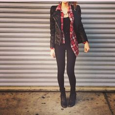 Loved how @hilisaa styled our quilted leather moto jacket!!! Shop poshshop.com for the look!