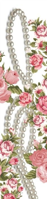 Just playing around with vintage flowers on a photo of Ayoka Pearls Pearl And Lace, Vintage Prints, Vintage Tags, Cultured Pearls, Pearl Jewelry, Fine Jewelry, Vintage Flowers, Types Of Fashion Styles, Pretty In Pink