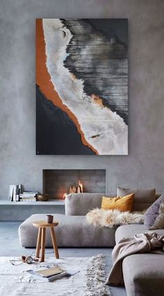 Enthralling Interior paint colors 2020 sherwin williams,Behr interior paint colors home depot and Modern interior wall painting ideas. Home Interior Design, Interior Decorating, Modern Interior, Exterior Design, Design Interiors, Orange Interior, Room Interior, Bel Art, Fireplace Design