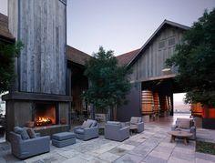 Barn & patio - doesn't everybody need a wine barn?