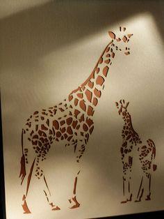Laser Cut Mom & Baby Giraffe Nursery Art. $28.00, via Etsy.