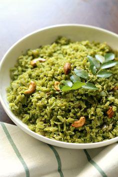 Green masala poha.