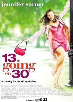 2004 - 13 Going on 30 -- Jennifer Garner and Mark Ruffalo star in 13 GOING ON a flash-forward romantic comedy about a pre-teen girl who goes from geek to glamorous. Chick Flicks, See Movie, Movie List, Film Music Books, Music Tv, Movies Showing, Movies And Tv Shows, 13 Going On 30, Bon Film