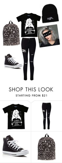 """Untitled #32"" by that-one-phangirl ❤ liked on Polyvore featuring Disney, Miss Selfridge and Converse"