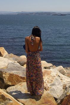 Live this backless maxi dress