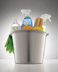 The best spring-cleaning products, organized in one bucket.