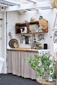 Emily Henderson Mountain Fixer Upper I Design You Decide 5 Styles Whimsical Scandinavian Cottage 05 garden ideas cottages Mountain Fixer Upper: The 5 Styles We Didn't Choose - Emily Henderson Outdoor Kitchen Design, Rustic Kitchen, Country Kitchen, Diy Kitchen, Vintage Kitchen, Kitchen Decor, Kitchen Layout, Kitchen Ideas, Cottage Kitchens