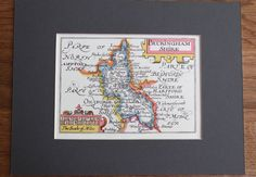 Vintage Facsimile Print of BUCKINGHAMSHIRE County Map by John Speed British…