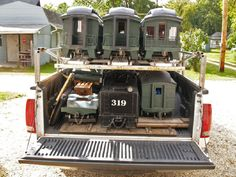 If I ever get into Live Steam Trains, and buy a truck. Brilliant idea for moving a full consist. Ride On Train, Train Tracks, Live Steam Models, Live Steam Locomotive, Garden Railings, Train Platform, Railroad Pictures, Real Model, Model Train Layouts