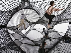 Inflatable Bounce House for Adults - Yokohama by Croatian-Austrian design collective Numen/For Use. Interactive Architecture, Interactive Installation, Interactive Art, Installation Art, Art Installations, Net Architecture, Floating Architecture, Yokohama, Experimental