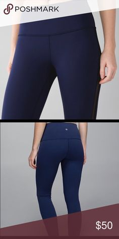 5cac1f12cc93ac Shop Women's lululemon athletica Blue size 6 Leggings at a discounted price  at Poshmark.
