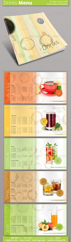 Coffee Shop Menu Coffee shop menu, Coffee shop and Menu - coffee shop brochure template
