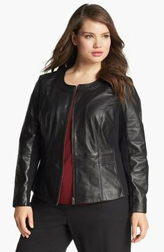 Sejour Nappa Lambskin Leather Jacket (Plus Size) available at #Nordstrom - Love this but limited sizes left - don't you hate when that happens!