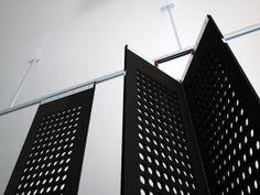 More moveable curtain panels Feel-Thru Felt Walls by Toni Palleja