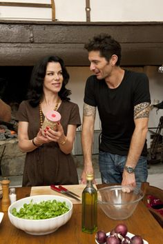 These days, Entourage actress Debi Mazar shares the spotlight with her husband, Gabriele Corcos, on their Cooking Channel show Extra Virgin. Chef Recipes, Wine Recipes, Food Network Recipes, Italian Recipes, Great Recipes, Favorite Recipes, Cooking Channel Shows, Debi Mazar, Tv Chefs