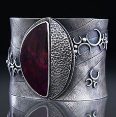 Cuff |  Amy Buettner.  Sugalite and Sterling