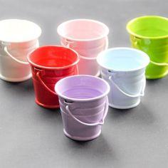Purple 4 cm metal bucket - Metal Buckets and Pots