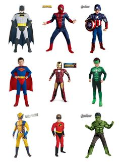 My favorite superhero costumes from our new store! #halloween #superhero #costume
