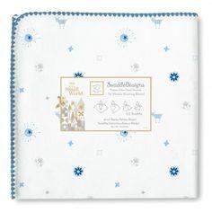 "Disney It's A Small World True Blue ""Sun & Lambs"" Ultimate Receiving Blanket® by SwaddleDesigns"
