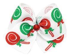 Sugar Plums Dog Hair Bow, Christmas bow :)