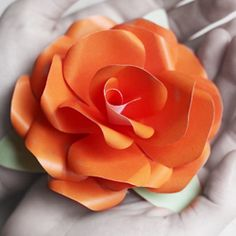 How to make a paper rose with free template!