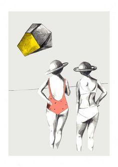 Dos bañistas de Saturno by depeapa, via Flickr