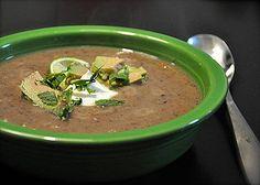 black bean and sweet potato soup!