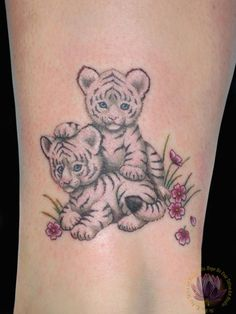 Baby tiger tattoo! One of my first tattoos I want! My fav animal! Must have this tattoo
