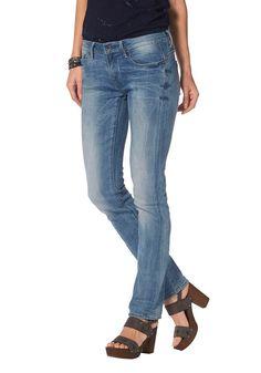 Materialzusammensetzung , Obermaterial: 71% Baumwolle, 18% Polyester, 10% Viskose, 1% Elasthan, |Material , Baumwollmischung, |Materialart , Denim/Jeans, |Stil , casual, |Leibhöhe , niedriger, |Bundabschluss , durchgesteppt, |Beinform , gerade, |Beinabschluss , gerader Abschluss, |Passform , gerade, |Herstellerpassform , straight fit, |Taschen , Eingrifftaschen, aufgesetzte Taschen, |Verschluss...