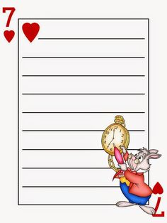 Free Alice in Wonderland Printable Notebook.
