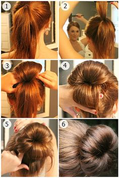 The Perfect Bun I used to do this all the time when I had hair