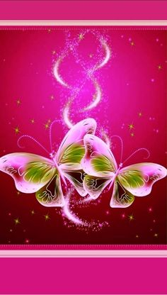 By Artist Unknown. Pearl Wallpaper, Pink Wallpaper Girly, Butterfly Wallpaper, Cute Wallpaper Backgrounds, Butterfly Flowers, Cool Wallpaper, Beautiful Flowers Wallpapers, Pretty Wallpapers, Beautiful Butterflies