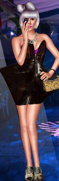 Lady Gaga dress up Lady Gaga Dresses, Dress Up, Bodycon Dress, Leather Skirt, Halloween, Skirts, How To Make, Fashion, Moda