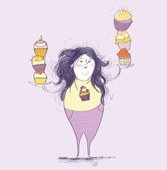 Editorial illustration #magazine #illustration #vibekehoie #cupcakes #drawing #purple #yellow Magazine Illustration, Purple Yellow, Editorial, Cupcakes, Drawings, Anime, Art, Art Background, Cupcake Cakes
