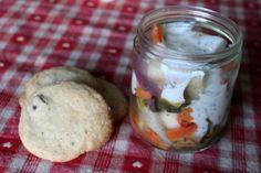 Mittags gab es bei Johanna Ofengemüse aus dem Glas und dazu Cookies - das Rezept von Frau Schulz ist allseits beliebt!