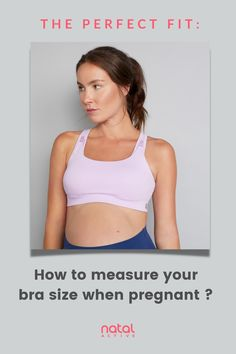 Finding a bra when pregnant can be hard. Get the perfect fit with our handy bra size guide for your frequently changing body shape and bust size. Maternity Sports Bras, Nursing Sports Bra, Maternity Nursing, Pregnancy Advice, Pre Pregnancy, After Pregnancy, Maternity Activewear, Bra Extender, Nursing Clothes