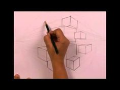 Product Drawing_Cubes (2 Point Perspective) - by Reenu Singh