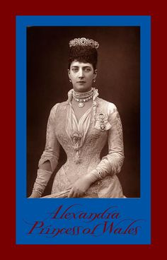 ALEXANDER OF DENMARK, Princess of Wales, c.1889.
