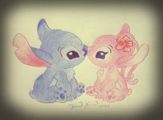 reborn-from-the-ashes - Stitching Projects Cute Disney Drawings, Pretty Drawings, Love Drawings, Art Drawings, Cute Disney Wallpaper, Cute Wallpaper Backgrounds, Cartoon Wallpaper, Cute Wallpapers, Angel Lilo And Stitch