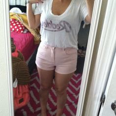 High waisted shorts High waisted pastel pink shorts. Its Spring and goes with your cute sandals and Vneck t. Bbq season! Forever 21 Shorts Skorts