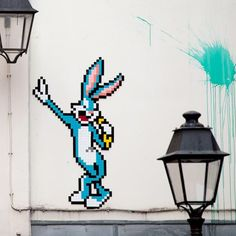 Bugs Bunny by Invader in Paris-photos-de-Street-Art