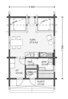 Tiny House Plans, Humble Abode, Floor Plans, Cottage, How To Plan, Home Plans, Cottages, Cabin, Small House Plans