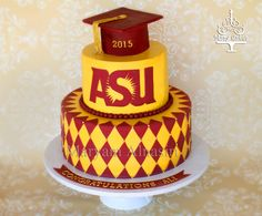 I am planning my 2017 grad party and I want the perfect cake! Phd Graduation, Graduation Party Favors, Grad Parties, Graduation Ideas, Arizona State, Cakes And More, Party Cakes, Cake Decorating, Cooking Recipes