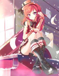 ☆ #AnimeTime ☆ Love Live!, Maki, by 41Y #anime #illustration