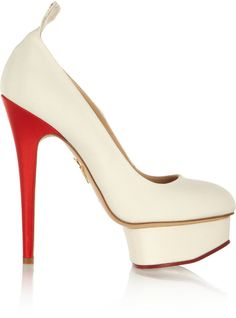 Charlotte Olympia Love Dolly Silk-Twill Pumps | #Chic Only #Glamour Always