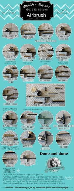 Step by step tutorial to take apart your airbrush!  For the best airbrush makeup brands and reviews visit us at: http://thebestairbrushmakeup.com/