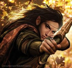 Legolas by Magali Villeneuve <----- I like this portrayal of him a lot; maybe even more than Orlando Bloom.