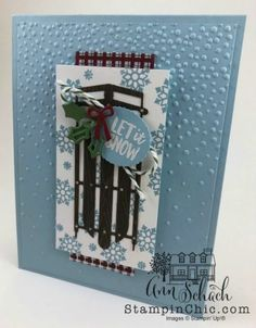 Just click the link to read more about Making Your Own Christmas Cards Creative Christmas Cards, Christmas Cards 2018, Christmas Sled, Homemade Christmas Cards, Stampin Up Christmas, Christmas Gift Tags, Homemade Cards, Holiday Cards, Watercolor Christmas Cards