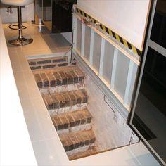 wine cellar hydraulic trap door - youtube | basement door